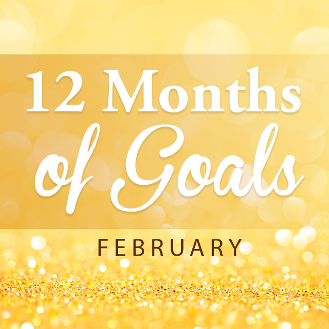 12 months of goals -- February