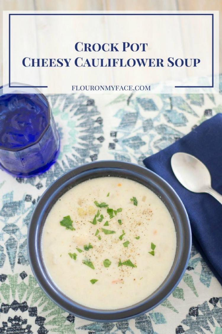 crock pot cheesy cauliflower soup