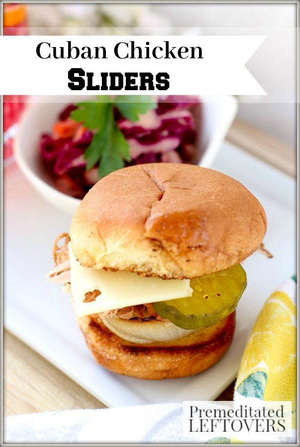 cuban chicken sliders recipe