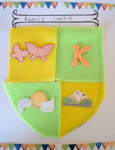 Fun Family Crest Craft for Kids (My Knight and Me Animated Series)