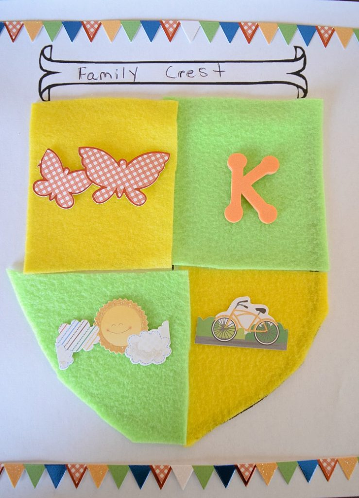 easy and fun family crest craft for kids