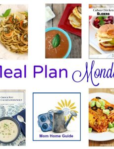 Meal Plan Monday – Cheesy Cauliflower Soup and Pesto Scallops