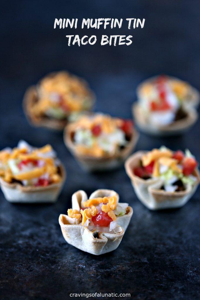 mini muffin taco bites