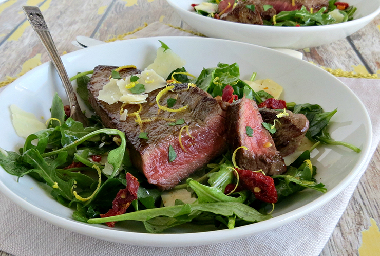 steak arugula salad recipe