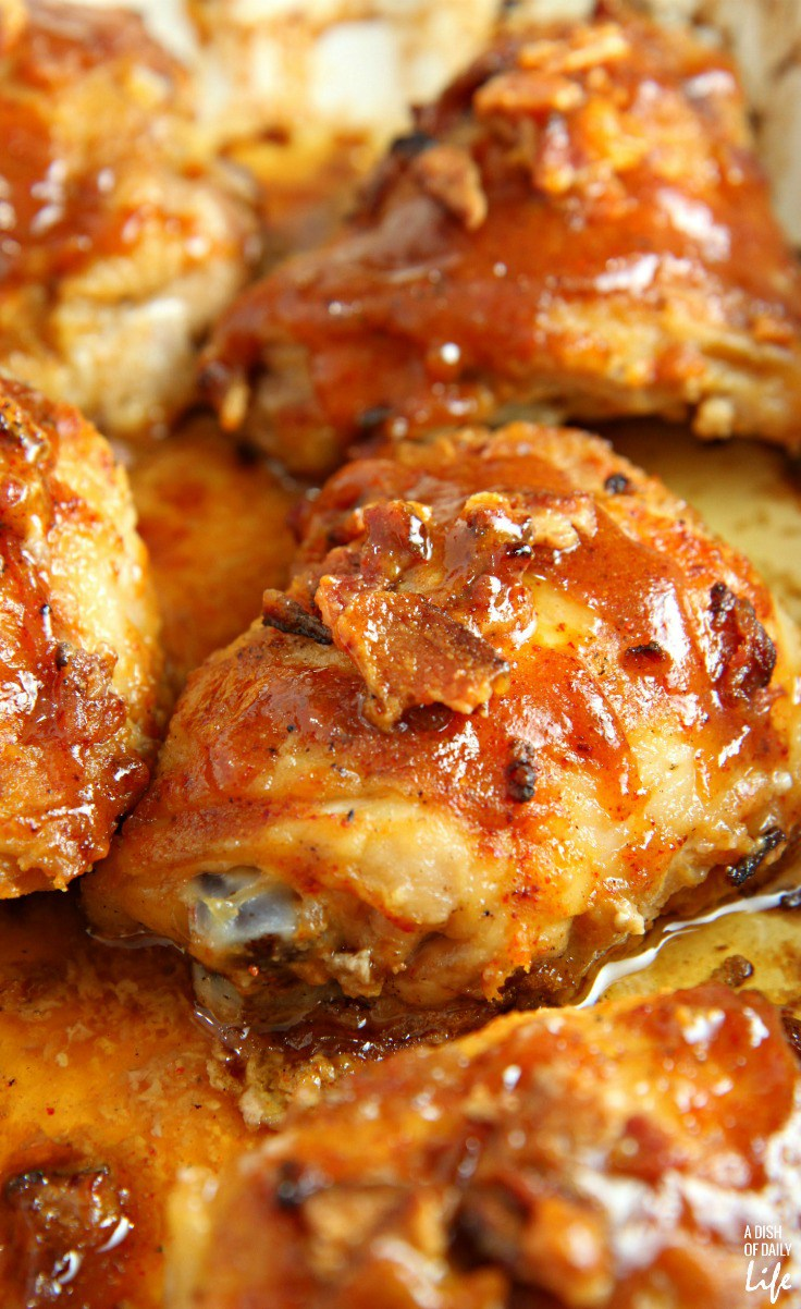 sticky honey mustard chicken