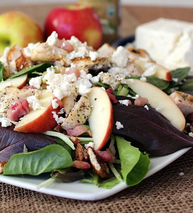chicken apple feta salad recipe