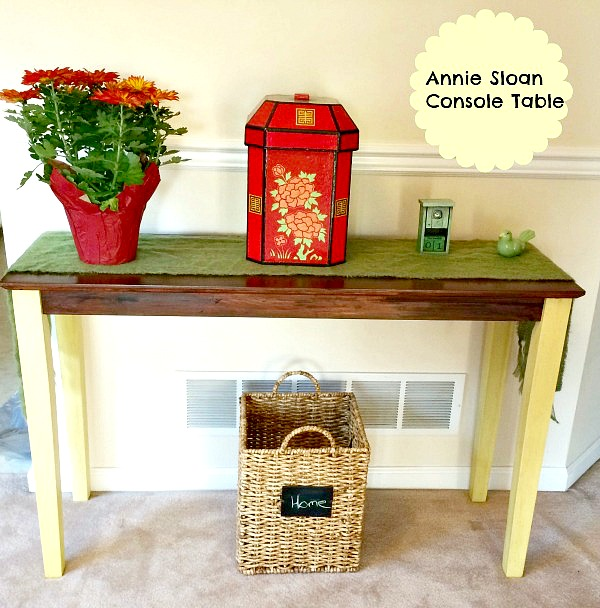 chalk painted console table