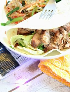Korean pork tacos with Asian cabbage slaw