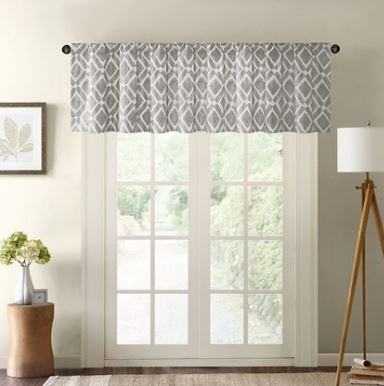 These gray valances from Target are perfect for the family room