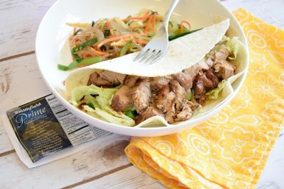 recipe for Korean pork tacos and Asian cabbage slaw
