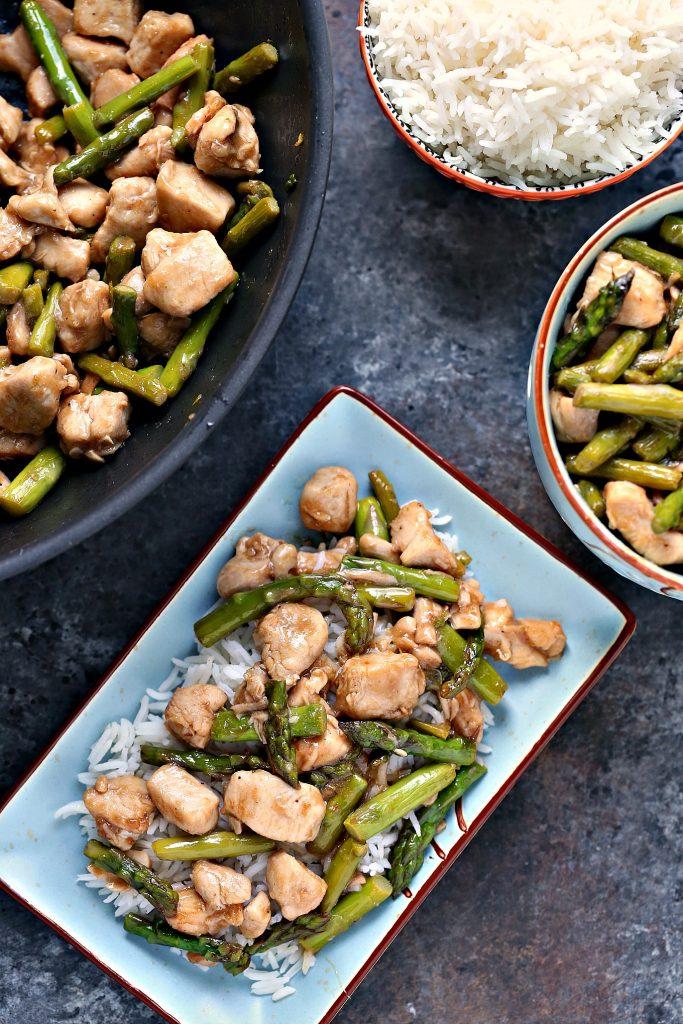 chicken stir fry with asparagus recipe