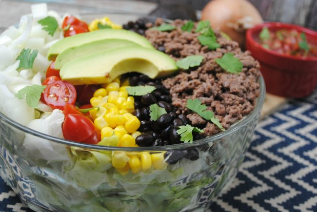 Easy taco salad by Just Two Sisters