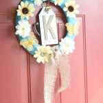 April Flowers Burlap Wreath (12 Months of Wreaths)