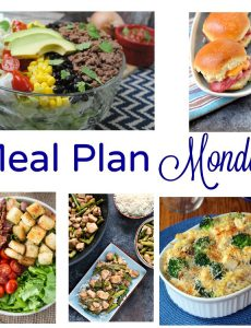 Meal Plan Monday –Chicken Caesar Bake & BLT Salad