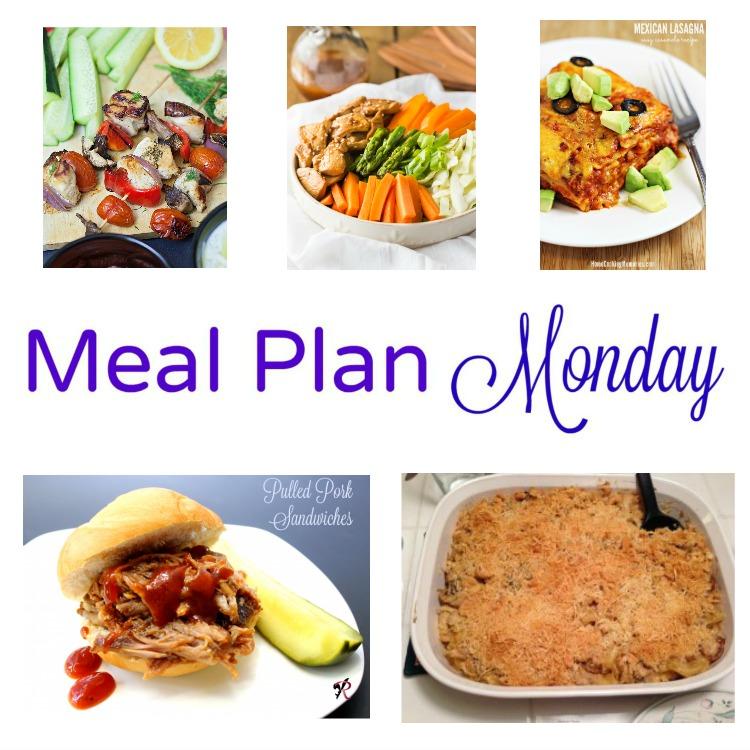 Meal Plan Monday -- Greek Kabobs and Mexican Lasagna recipes