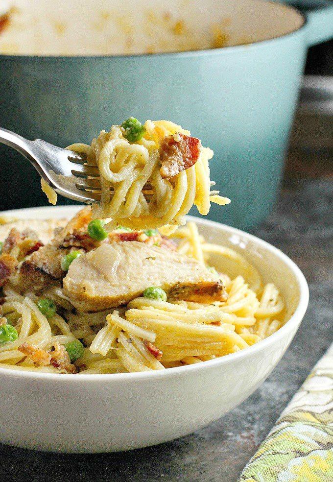 chicken carbonara pasta recipe