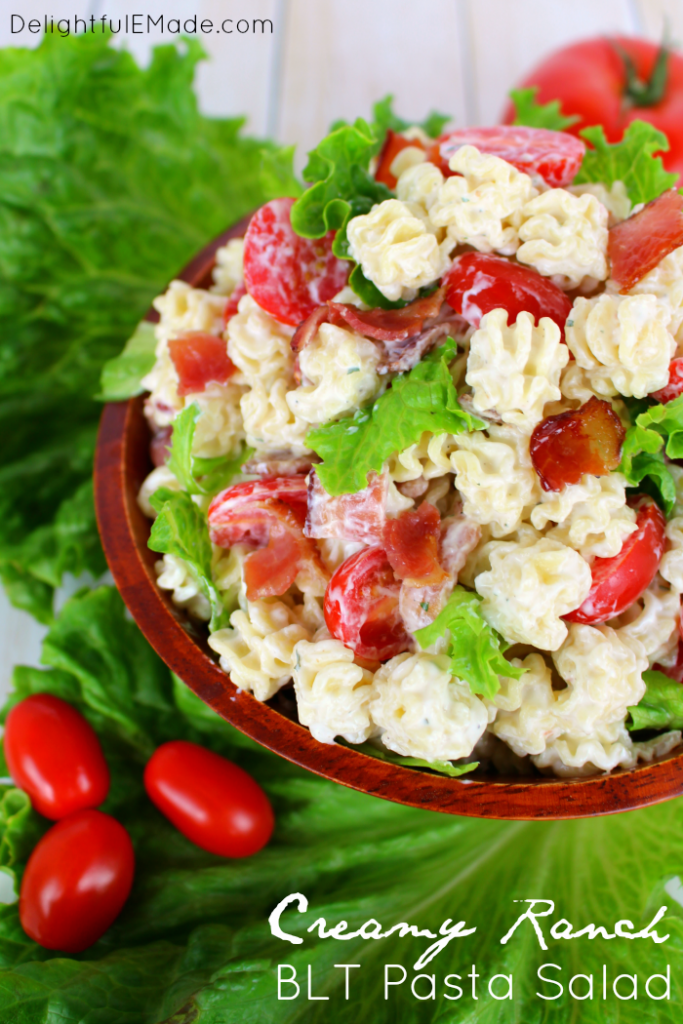 creamy ranch BLT pasta salad recipe