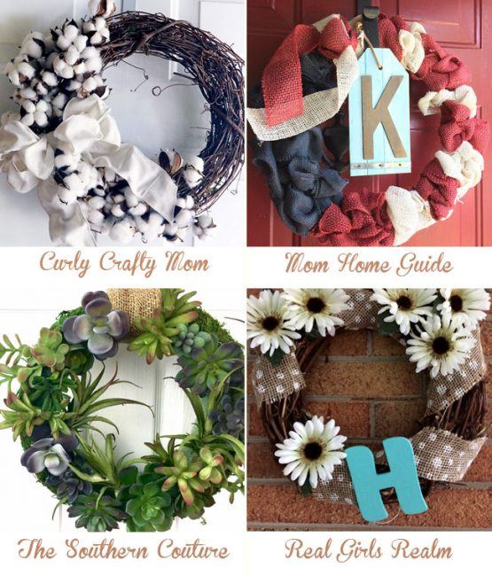Learn how to make 4 DIY wreaths for your home's front door