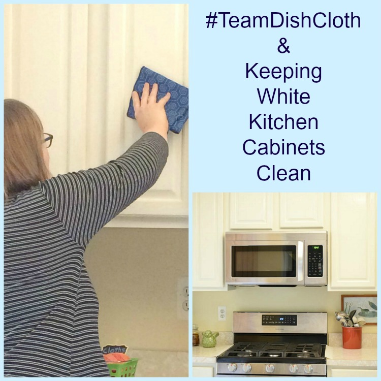 #teamdishcloth and keeping white kitchen cabinets clean
