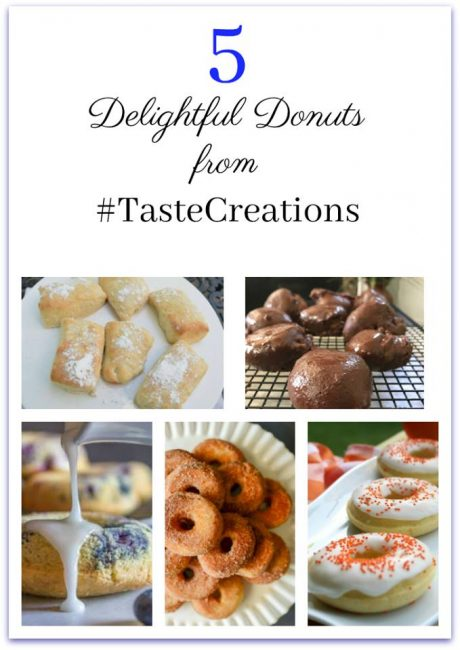 5 donut recipes, Taste Creations blog hop