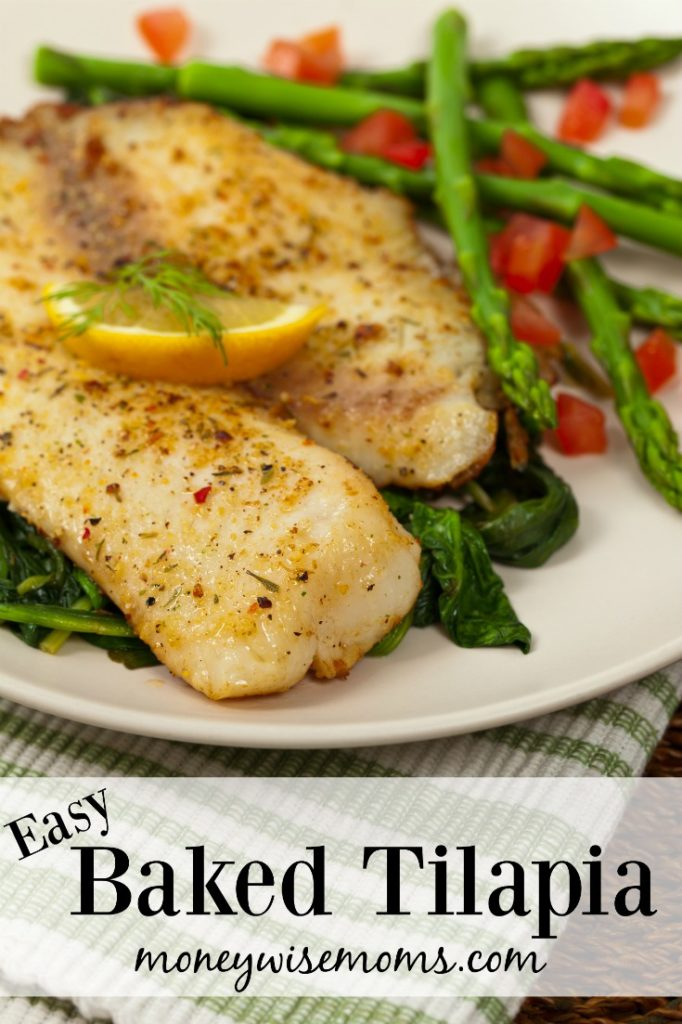 easy baked tilapia recipe by Moneywise Moms