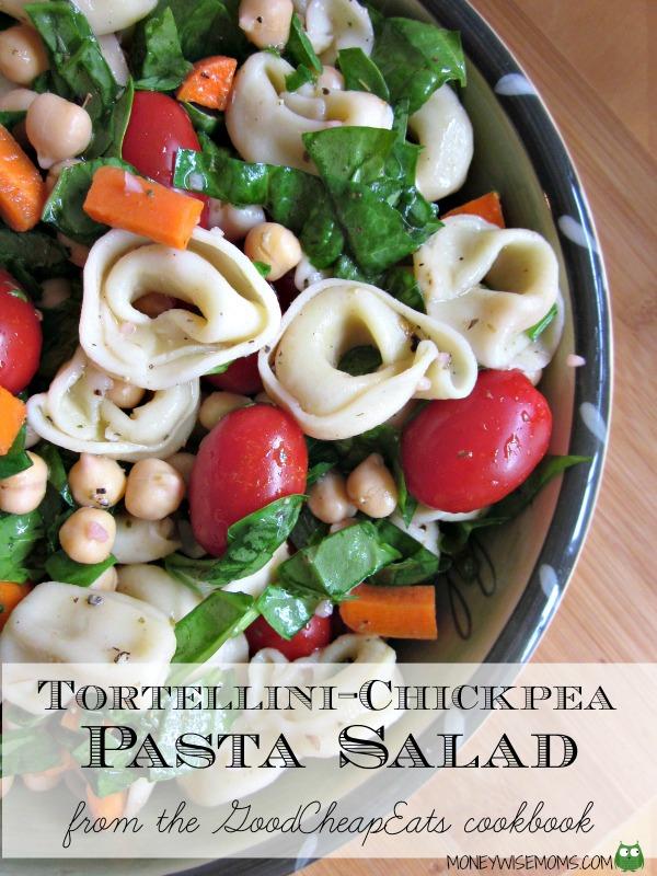 tortellini chickpea salad