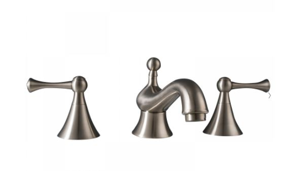 brushed nickel faucet set from Maykke