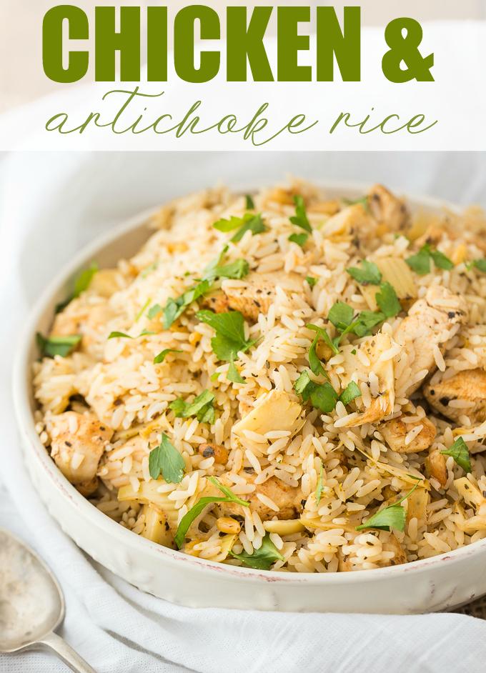 chicken and artichoke rice recipe