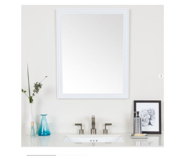 Cosette framed mirror in white