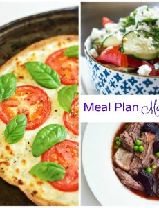 Meal Plan Monday — Caprese Tortilla Pizza & Turnip and Beef Roast