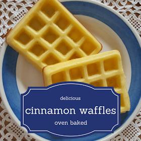 oven baked cinnamon waffles