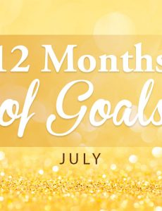 Simple Inspiration Board — 12 Months of Goals (July)