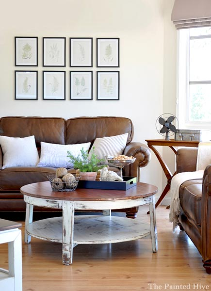 brown living room by The Painted Hive