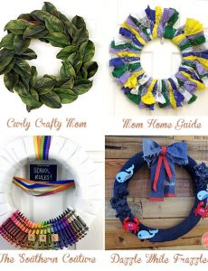 DIY summer July wreaths to make yourself