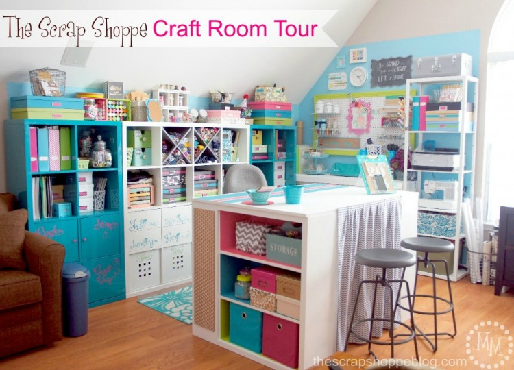 craft room reveal by the Scrap Shoppe