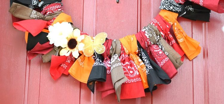 Fall Bandana Wreath — 12 Months of Wreaths