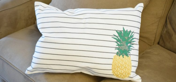 No-Sew Pineapple Pillows