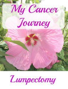My breast cancer journal -- my lumpectomy