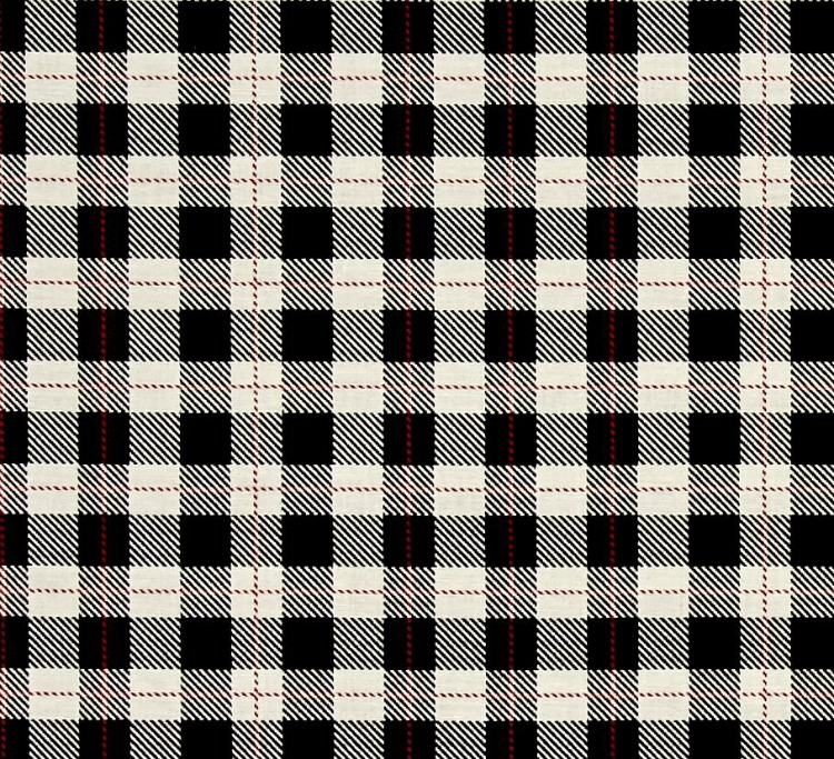 modern black and white plaid fabric