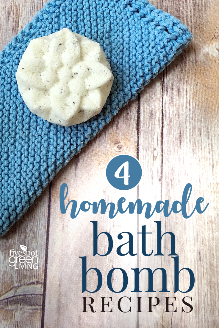 DIY bath bomb recipe by Fivespot Green Living