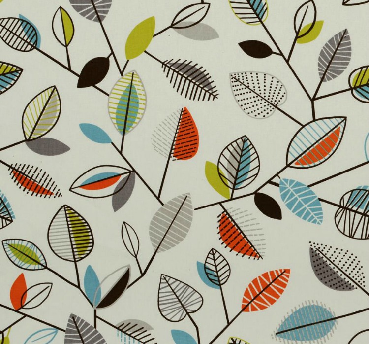 colorful fall leaf fabric
