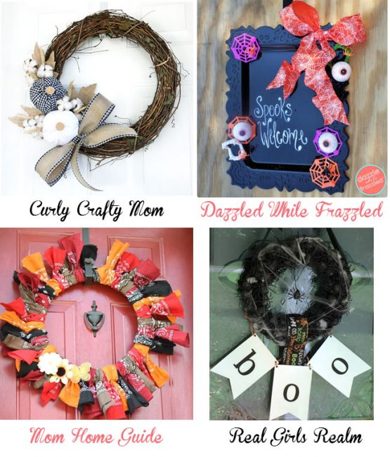 12 months of wreaths - Autumn and Halloween weaths