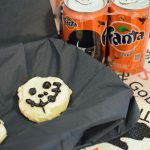 Iced Halloween Skeleton Cookies