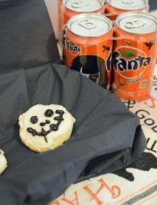 Iced Halloween Skeleton Cookies