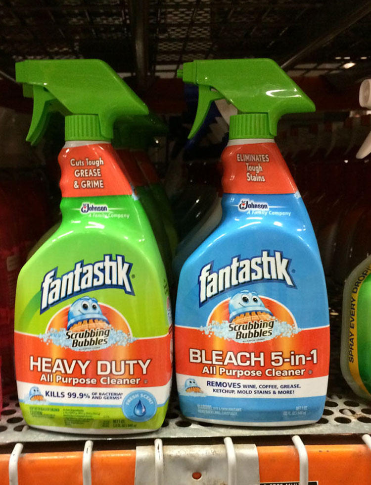 Fantastik Scrubbing Bubbles at Home Depot