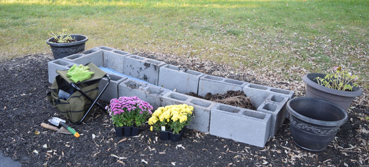 building an outdoor raised flower bed
