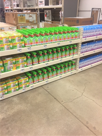Home Depot Fantastik Scrubbing Bubbles display