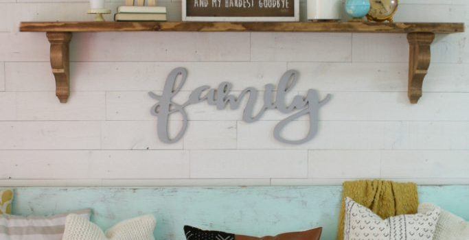 DIY Farmhouse Shelf & Creative Corner Link Up Party