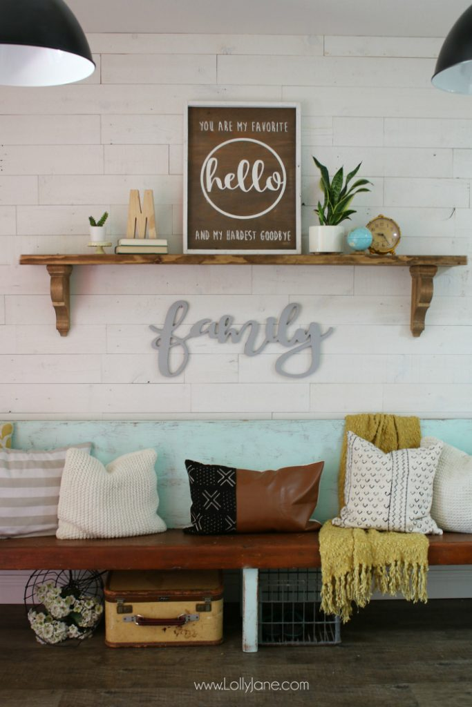 DIY farmhouse shelf