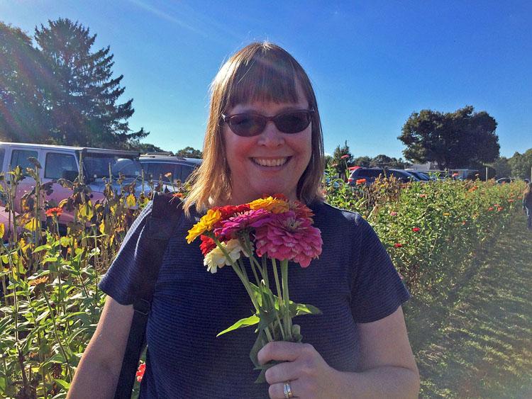 picking flowers in September